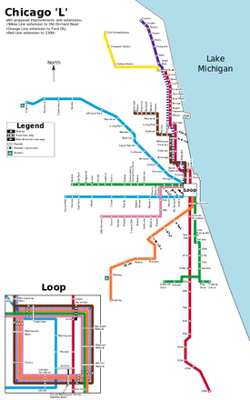 Transit Chicago Map.Transportation Chicago Planning History